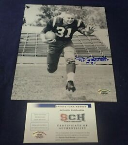 Don-Bosseler-Redskins-Signed-8-X-10-Photo-W-70-Greatest-SCH-Auth