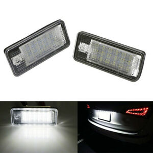 2x-LED-Number-License-Plate-Light-18SMD-Canbus-No-Error-For-Audi-A3-A4-S4-B6-B7