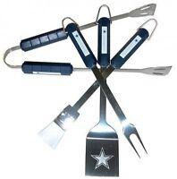 Nfl Dallas Cowboys 4-piece Barbecue Set Tailgating Football Cookout Souvenir on sale