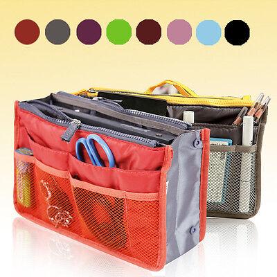 Women Travel Insert Handbag Organiser Dual Bag in Bag Organizer Tidy Bag Fashion