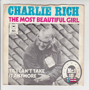 Charlie-RICH-Vinyl-45T-7-034-THE-MOST-BEAUTIFUL-GIRL-N-1-USA-Import-HOLLAND-RARE