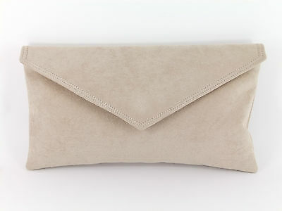 Neat Envelope Faux Suede Clutch Bag/Shoulder Bag