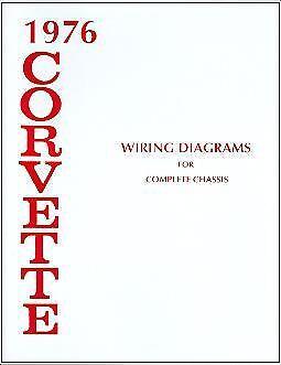 1976 76 CORVETTE WIRING DIAGRAM MANUAL | eBay