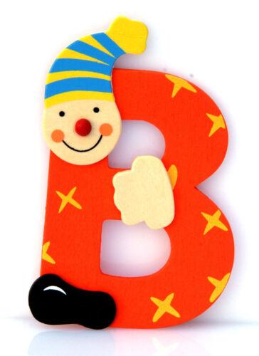 Lettera B in Legno Pagliaccio cm 10 Per cameretta bambini. 3+
