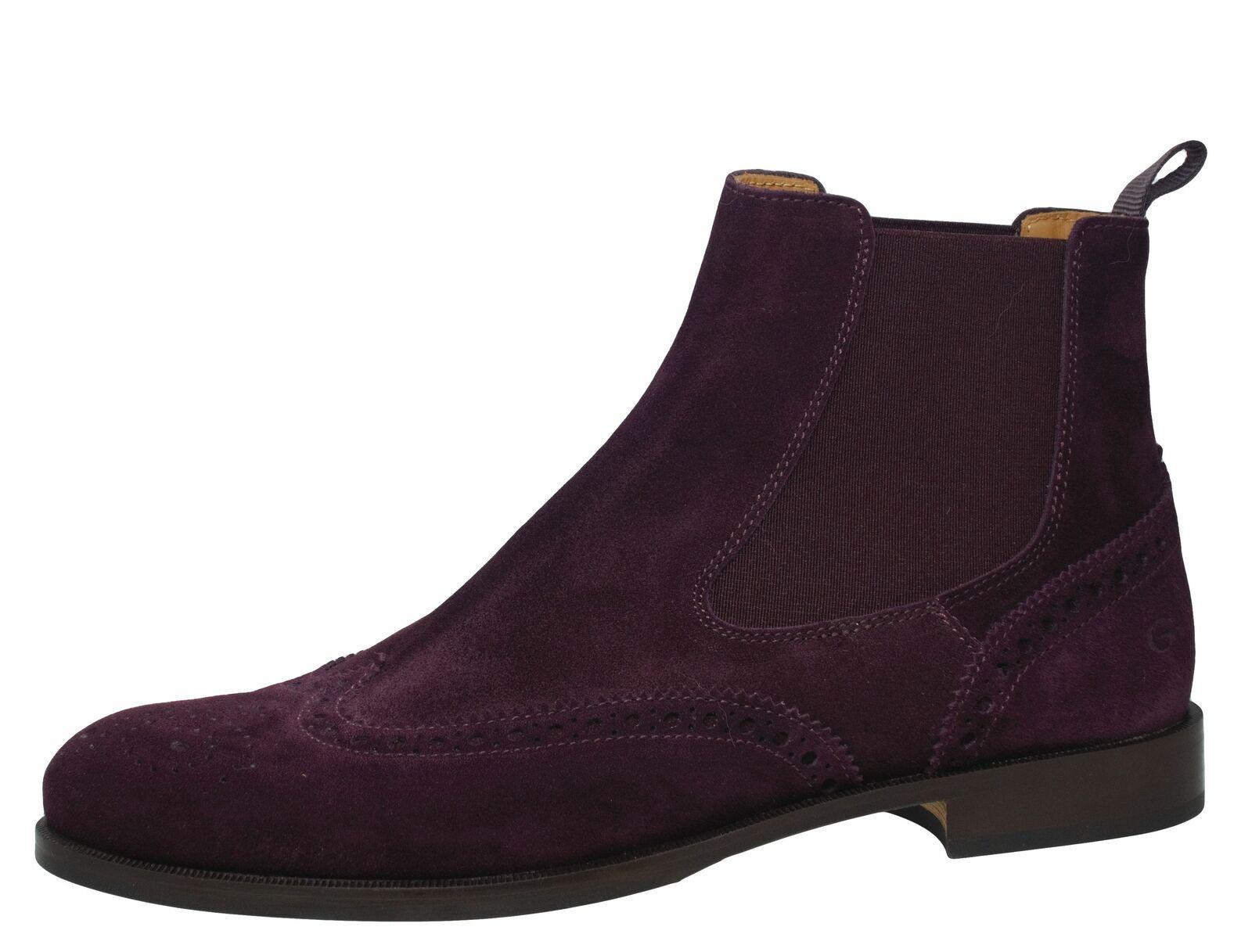 Gallucci 5078 Stiefeletten Chelsea Stiefel Leder Budapester rot Gr. 39 - 41 Neu