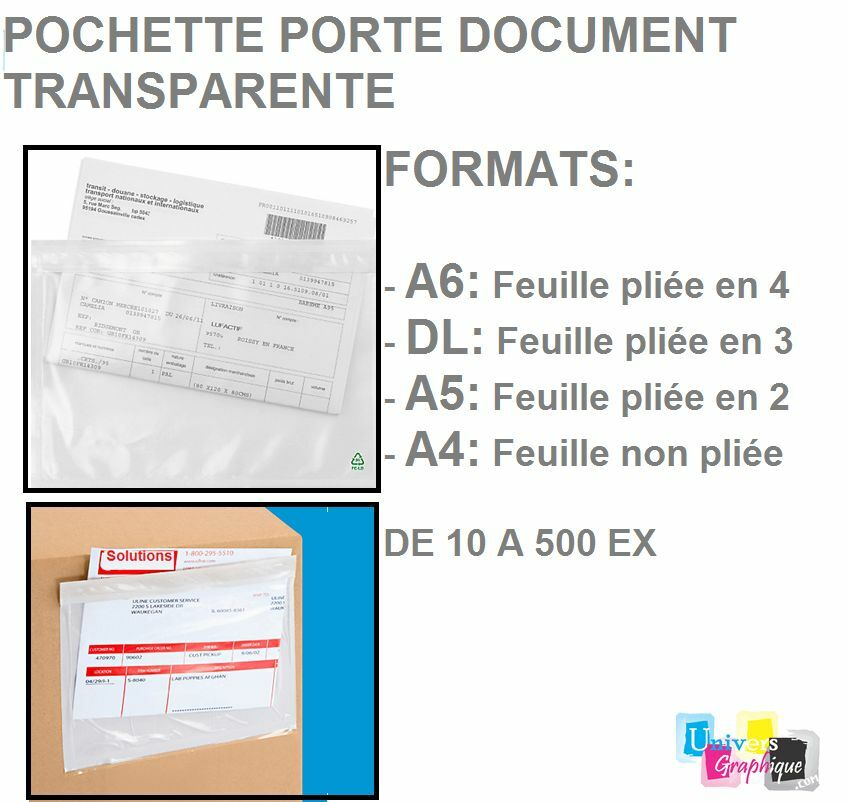 pochette porte document adhésive d'expédition 10 format A6-DL-A5-A4 de 10 d'expédition a 500 ex d6d621