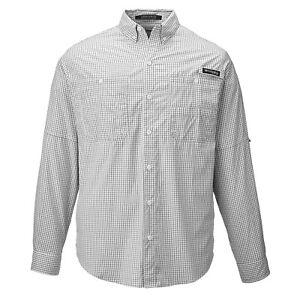 b149cfe6 NWT - COLUMBIA Men's 'PFG SUPER TAMAIMI' Black L/S GINGHAM FISHING ...