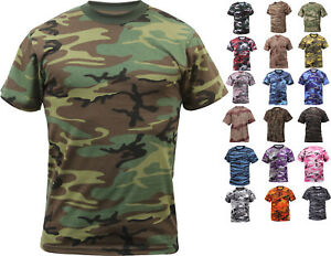 Camo t shirt military short sleeve tee army camouflage for Camouflage t shirt design