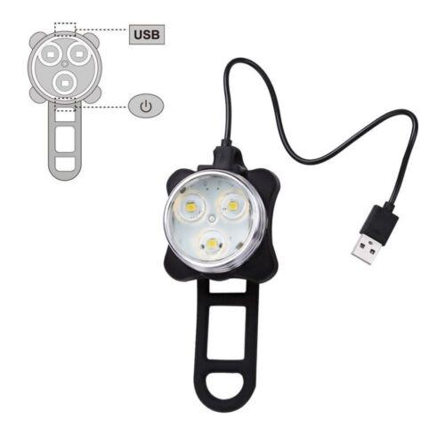 Ascher DEL Rechargeable Bike Lights Set-Phare Feu Arrière Combinaisons DEL