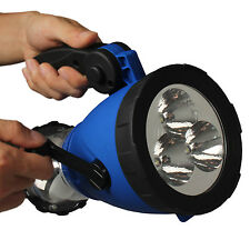 Outdoor Emergency Hand Crank LED Lantern Light Lamp Spotlight w/Car Charger