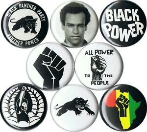 Black-Panther-8-pins-buttons-black-power-africa-fist-logo-60s-civil-rights