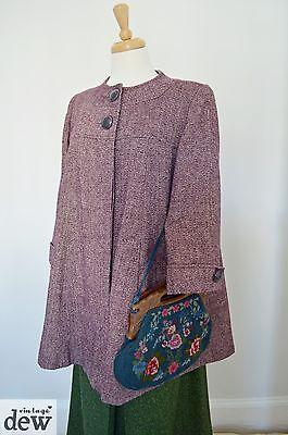 purple SWING JACKET coat 1940's style WARTIME vintage ww2 blitz swagger 10 12