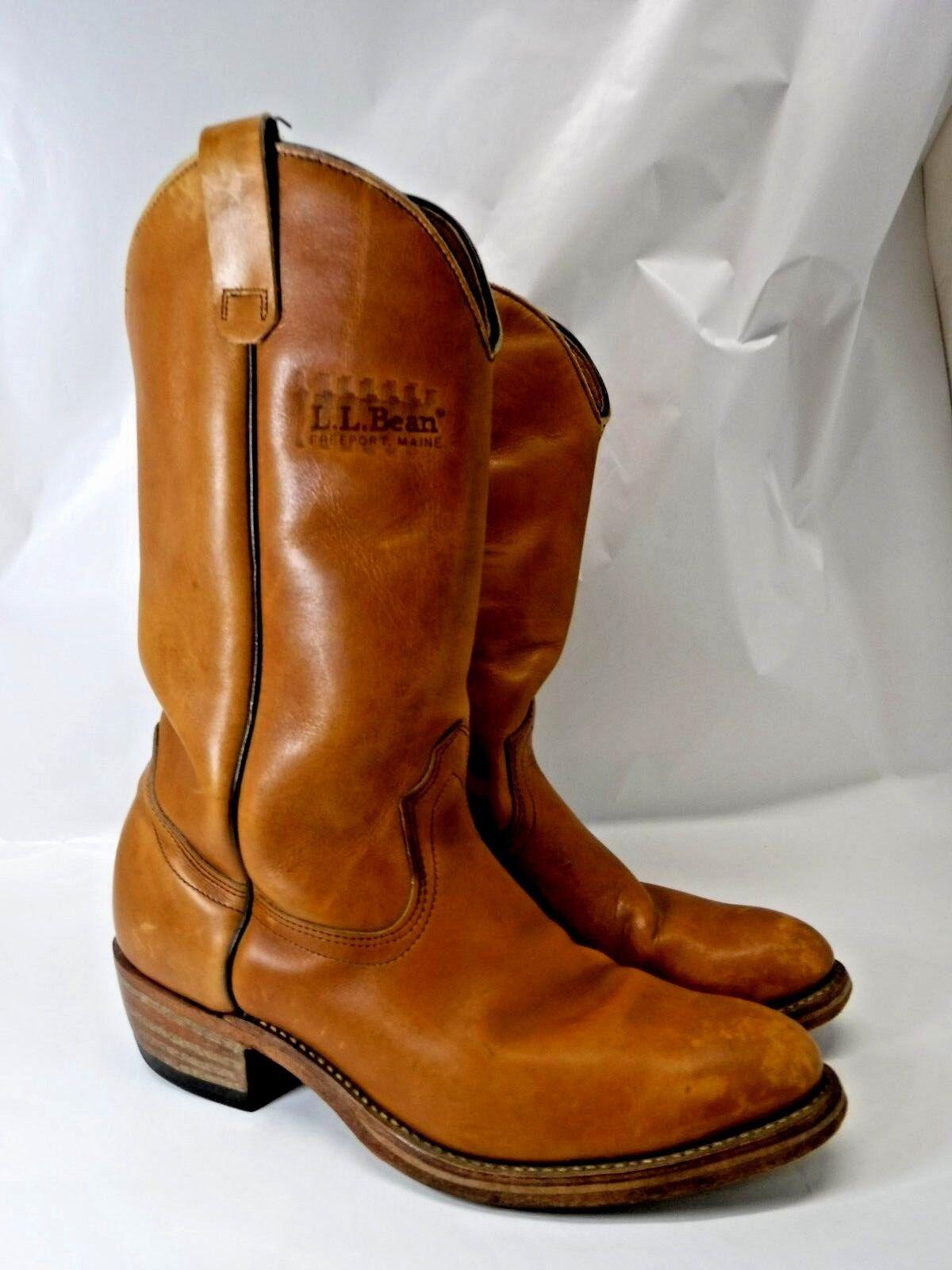 L.L. Bean cuero botas Sz 9 Hecho en EE. UU. Vintage Raro años 80