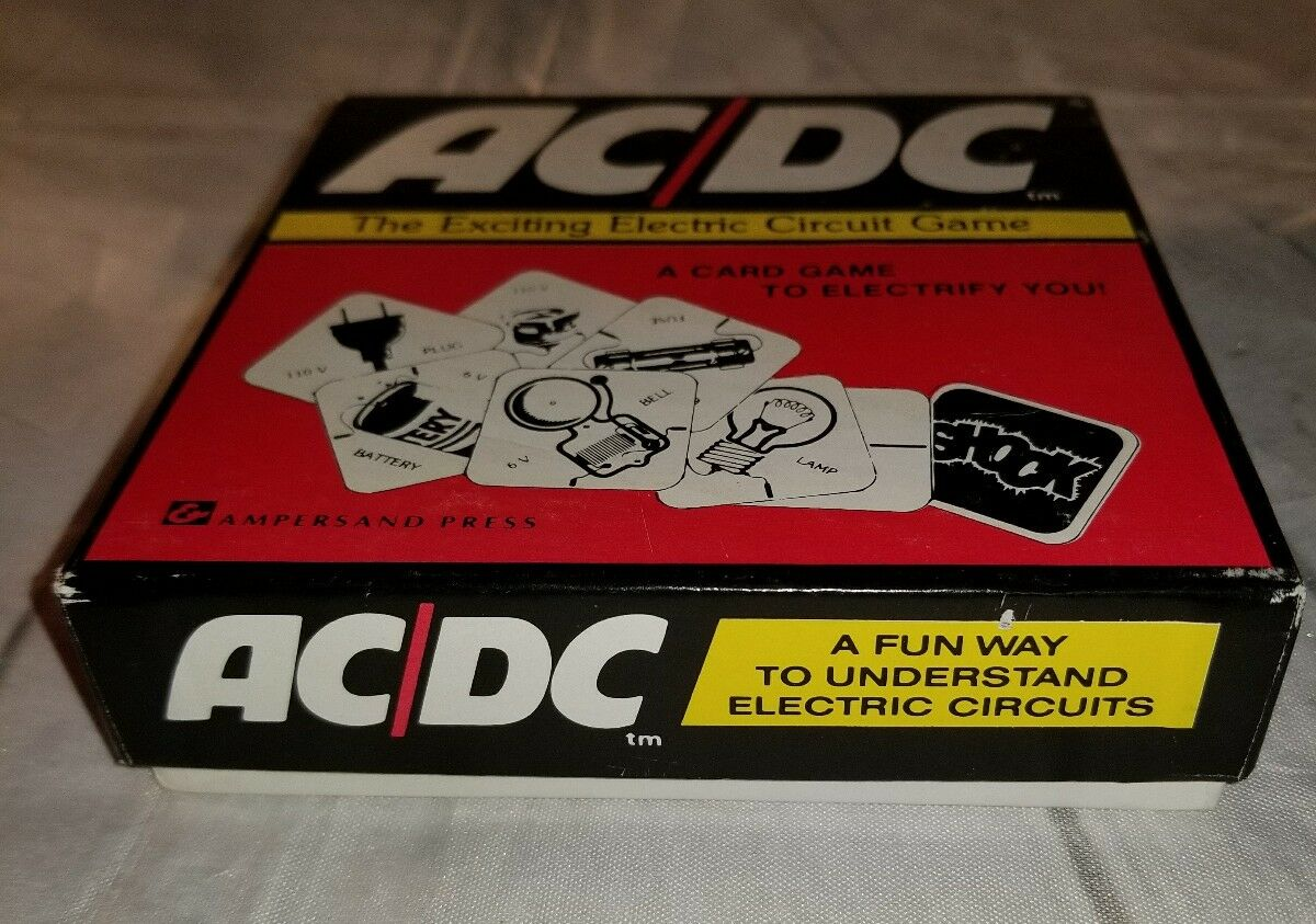 Vintage 1975 Ac Dc The Exciting Electric Circuit Game From Ampersand Press Ebay