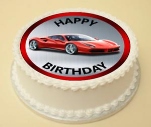 Remarkable Ferrari Birthday Cake Cupcake Topper Decoration Wafer Paper Funny Birthday Cards Online Aboleapandamsfinfo