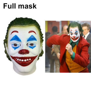 Details about HOT Movie Joker 2019 Arthur Fleck Latex Full Mask For  Halloween Cosplay Party