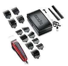 Haircutting Kit Easy Cut 20-Piece Red/Black Clipper Barber Machine Hair Salon .