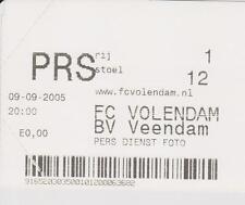 Sammler Used Ticket / Entrada FC Volendam v BV Veendam 09-09-2005