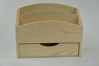 Briefständer Aufbewahrung  Schreibtisch Accessoires Dekoration Decoupage Basteln