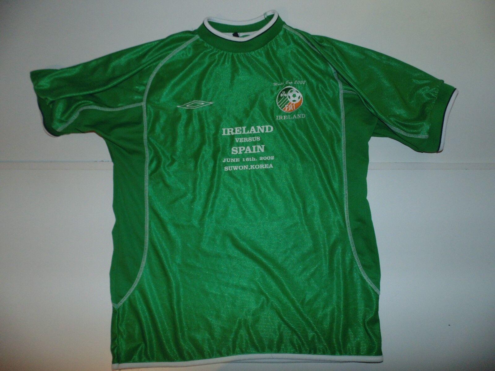 Ireland World Cup 2002 home football shirt. mens XL