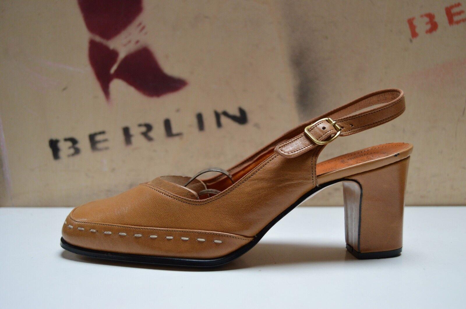 Weltschuh Damen SlingPumps 70er TRUE VINTAGE 70´s Pumps Sandale Sandaleetten