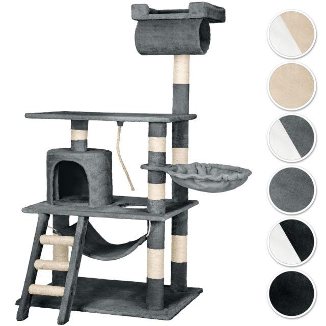 Arbre à chat griffoir grattoir geant avec hamac lit 141 cm hauteur