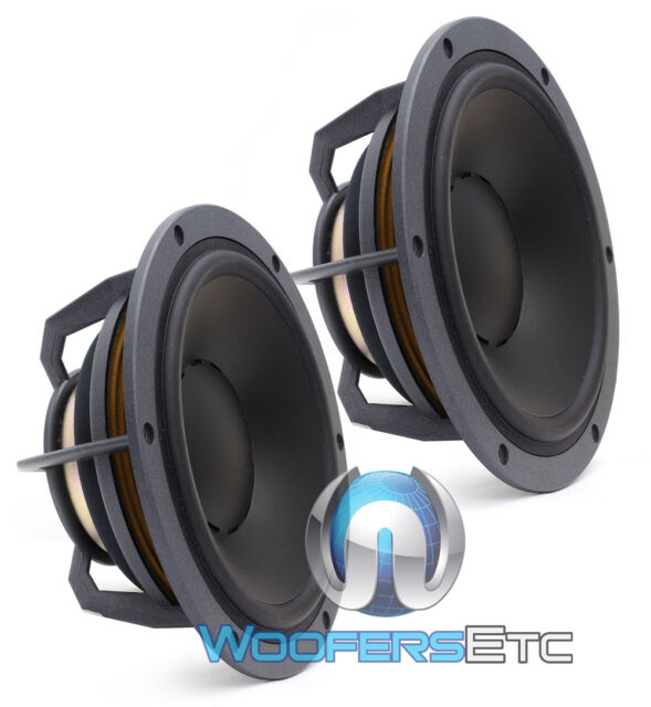 "2 DYNAUDIO ESOTEC MW172 MIDS 8"" 150W 4-OHM MIDRANGE CAR AUDIO 8"" SPEAKERS NEW"