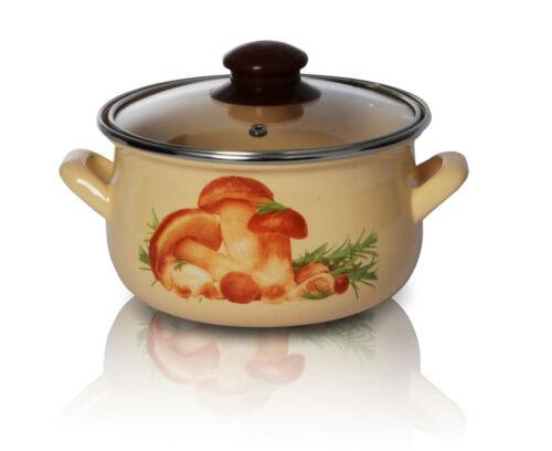 Émail Stock Soupe Pot Marmite 20cm Commercial Ragoût Casserole Poêle Champignons