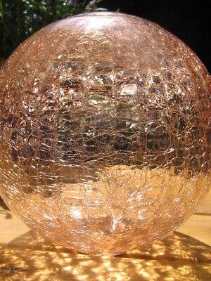 Analytisch Dekokugel Garten 10cm Craque Glaskugel Rosa Klar Wetterfest Glas Kugel ZuverläSsige Leistung