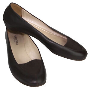 e34d9897146 Image is loading Taryn-Rose-Espresso-Brown-Leather-Loafer-Flats-w-