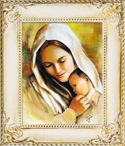 Religion-Mary-Jesus-Handmade-Oil-Painting-Picture-Oil-Frame-Pictures-G17242