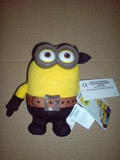 MINIONS MOVIE DELUXE PLUSH BUDDIES 14CM EYE,MATIE WITH PVC GLASSES SOFT TOY NEW