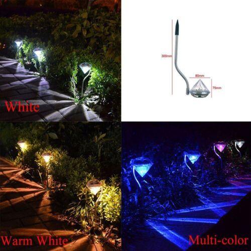 1x LED Solar Diamond Licht Farbwechsel Lampe Yard Garten Leuchte Outdoor KUS