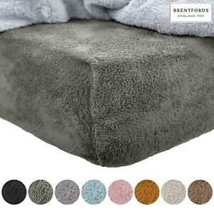 Brentfords-Teddy-Fleece-Fitted-Sheet-Thermal-Warm-Single-Double-King-Bedding-NEW