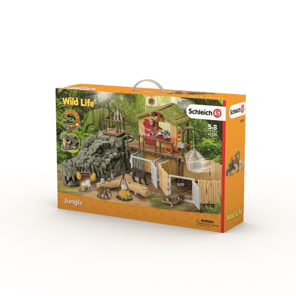 Schleich Wild Life basurillas jungla investigación estación Croco   juguetes a partir de 5 J