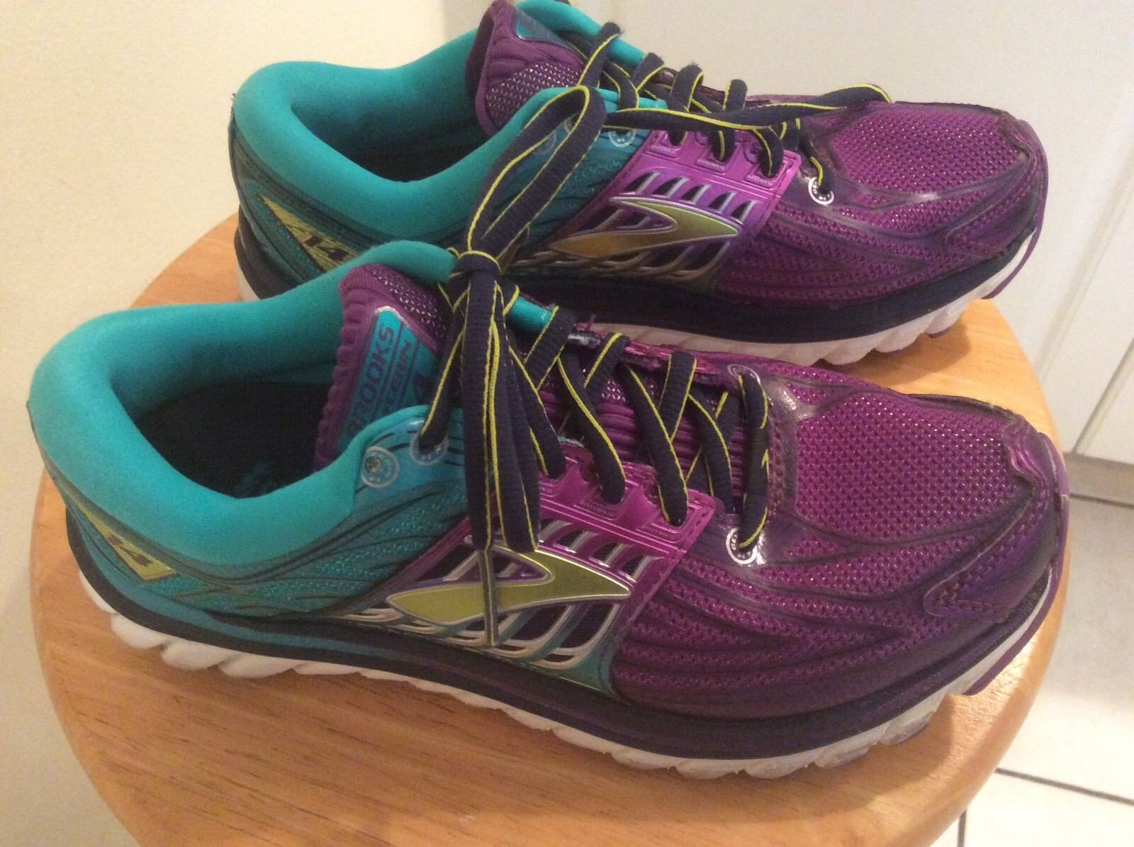 89a21611ef2f3 Brooks Glycerin 14 Pansy Ceramic Ceramic Ceramic Purple Lime Women Running  Shoes 120217 1B 6.5 3f0504