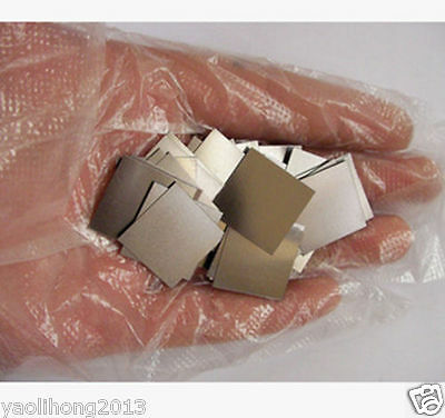 99.9% TANTALUM Ta Metal Sheet 0.2mm*20mm*20mm 1.5g