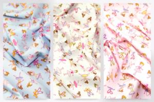 CP0164-M Ballerina Print Cotton Poplin Fabric