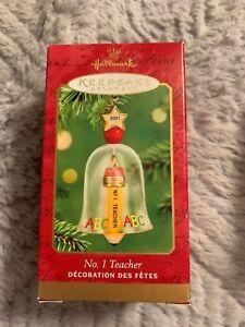 "Hallmark /""No 1 Teacher/"" Ornament 2001"