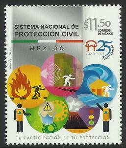 MEXICO-2011-FIRE-CIVIL-PROTECTION-1v-MNH