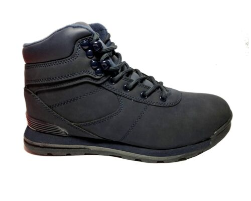 Boys Walking Hiking Lace Up C19090M Faux Leather Causal Girls Winter Boots Navy