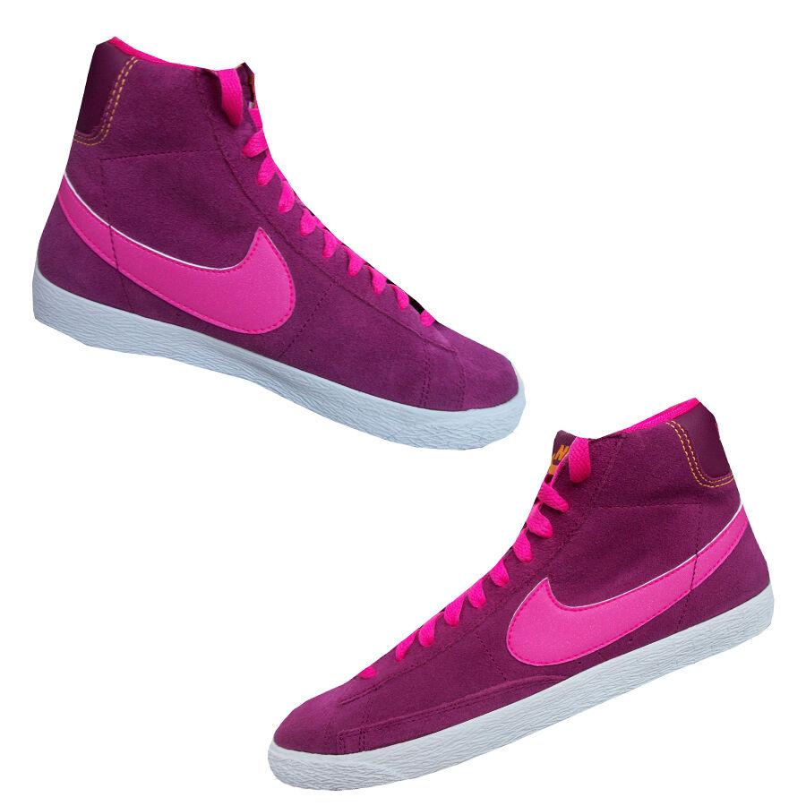 Nike Blazer Mid Hi himbeer rosa Veloursleder Mädchen / Damen Größen UK 3.4.5.