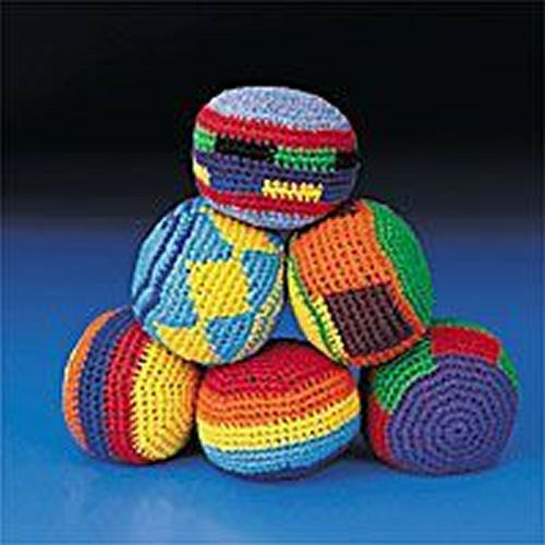 12 KICK BALLS Woven Knitted Hacky Sack Foot Bags NEW Bulk Wholesale Lot! CHEAP!