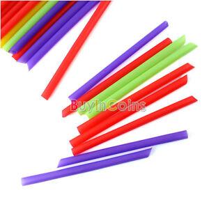 40-Multi-color-de-gran-ancho-Pajitas-batidos-batidos-Boba-Suave-ER15