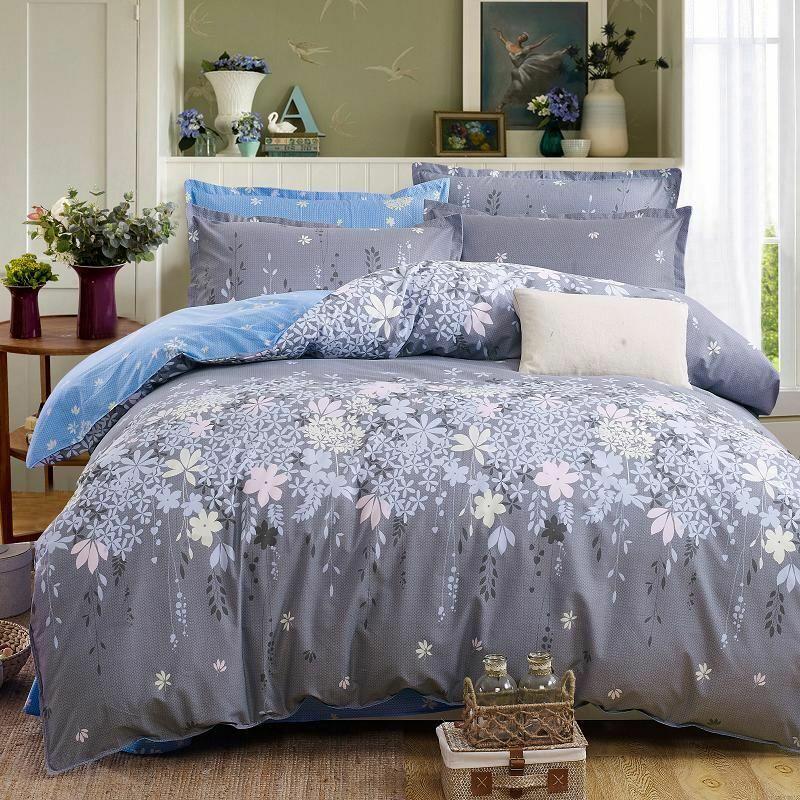 Set Bett Classic Duvet Bettding Startseite 5 Größe Linen Sheet Pastoral Ab Side 4pcs New