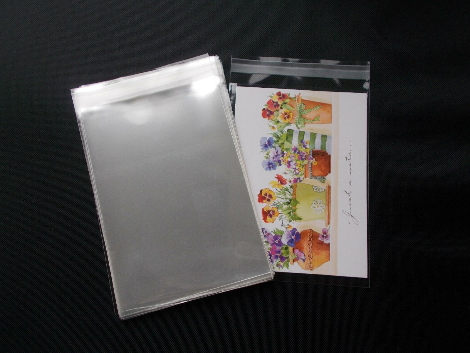 Greeting cards party supply 100 clear cello self seal bags sleeves envelopes 4 34 x 6 m4hsunfo