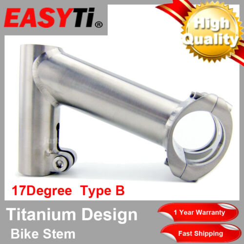 17degree 25.4mm Titanium QUILL Stem 85mm Height-For Road bike//XC//MTB//FR//DH 1-1//8