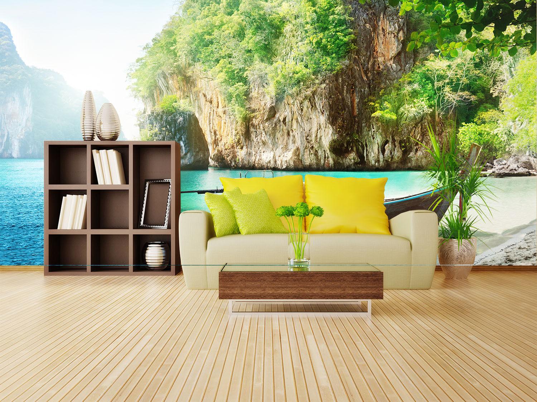 3D Tropischer Strand 72 Tapete Wandgemälde Tapete Tapeten Bild Familie DE Summer