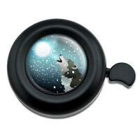 Howling Wolf Moon Snow - Bicycle Handlebar Bike Bell