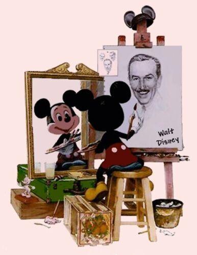 Disney/'s /_ Mickey /& Walt Triple Self-Portrait/_ Cross Stitch Pattern